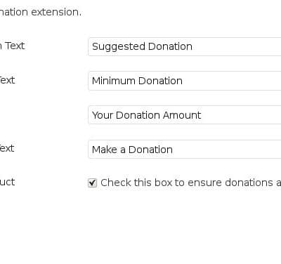 Donations Plugin Settings