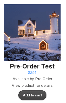 WooCommerce Pre-Orders - Product on the main catalog page