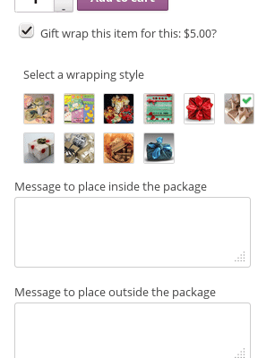 WooCommerce Gift Wrap - Product Page