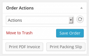 WooCommerce PDF Invoice - Order Actions