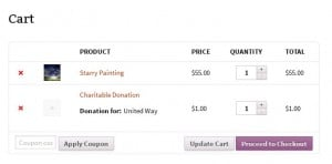 WooCommerce Round Up For Charity - Cart Page