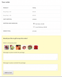 WooCommerce Gift Wrap on Checkout Page