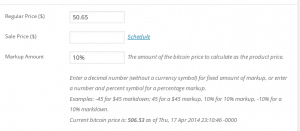 WooCommerce Bitcoin Product Pricer