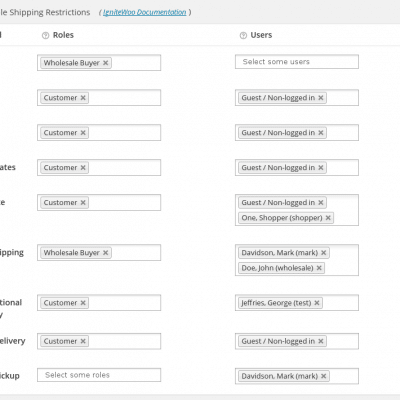 You can configure users, roles, or both to control who can use any given shipping method at checkout.
