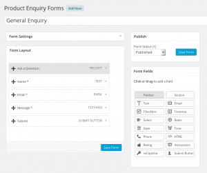 WooCommerce Product Enquiry - Form Editor