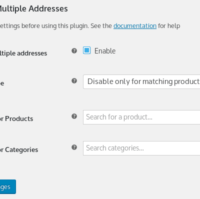 WooCommerce Ship to Multiple Addresses - Plugin Settings