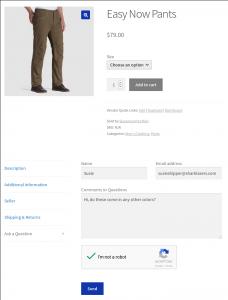 Vendor inquiry form