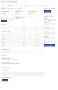 Vendor order details