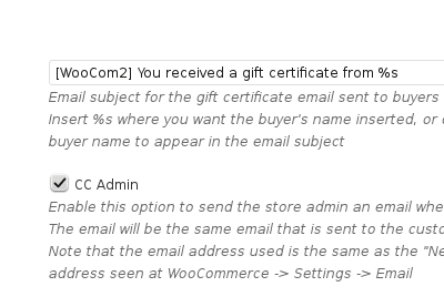 WooCommerce Gift Certificates - General Settings