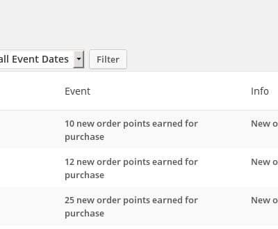 WooCommerce Loyalty Rewards & Points - Customer Points Log, see how and when points were awarded