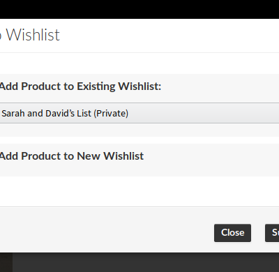Woocommerce Wishlist & Registry - Add to Wishlist