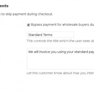 Wholesale Pricing - Payment Gateway Bypasses Payment Charges