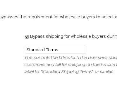 Wholesale Pricing - Shipping Module Bypasses Shipping Charges