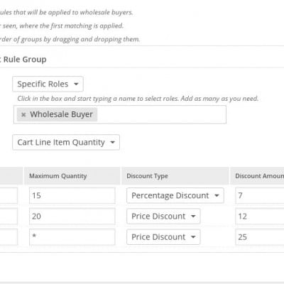 WooCommerce Wholesale Pricing Plus - Another Sample Product Ruleset