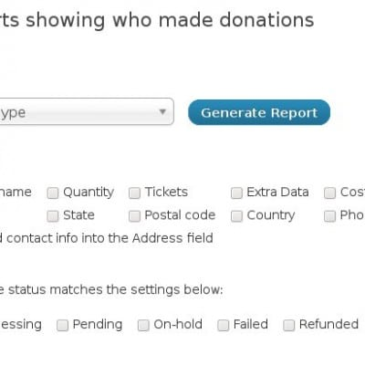 Donation Reports
