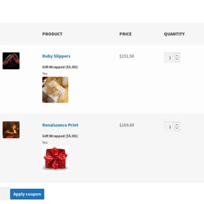 WooCommerce Gift Wrap - Cart