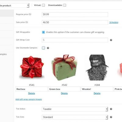 WooCommerce Gift Wrap - Product Settings