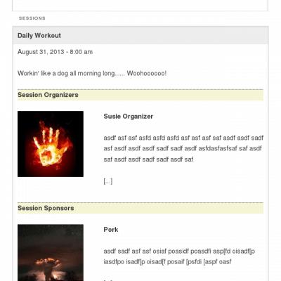 WooCommerce Event Product Page - Event Description