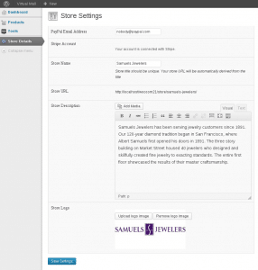 WooCommerce Product Vendor Store Settings