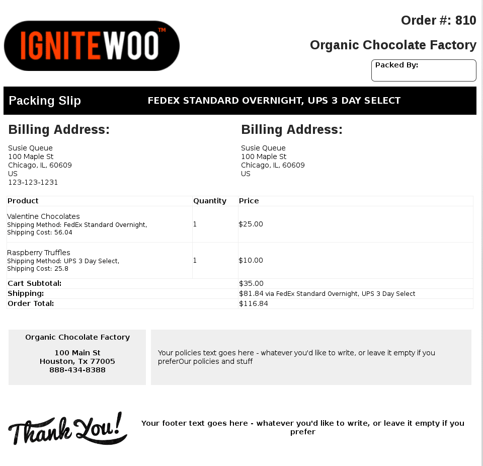 WooCommerce PDF Invoices Packing Slips - Woocommerce invoice system