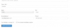 WooCommerce Birthday Coupons - Opt Out Setting