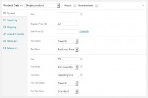 WooCommerce Product Fees & Cart Fees - Product Settings