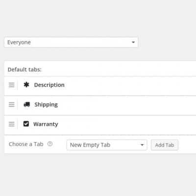 WooCommerce Tab Control Pro - Settings & Default Tab Layout