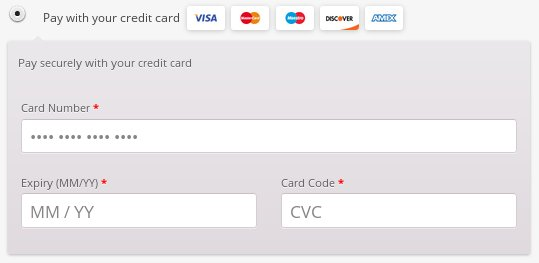 WooCommerce PayPal Pro credit card payment form