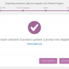 Import inventory stock level and stock status updates from your suppliers