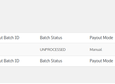 WooCommerce PayPal Payouts List